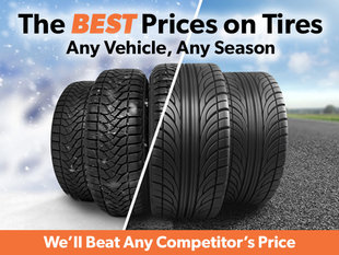 Our Tire Prices Will Not Be Beat!