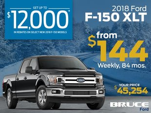 2018 F-150 XLT from $144 Weekly