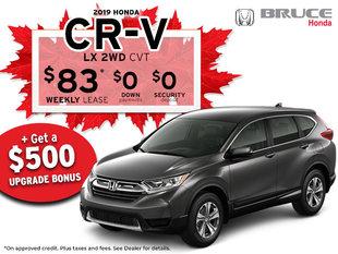 Canada Day Deals - 2019 Honda CR-V