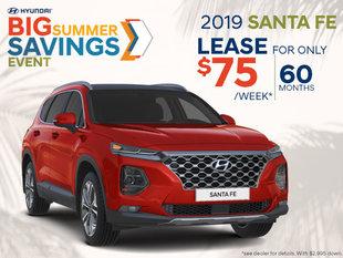 Lease the 2019 Santa Fe