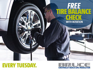 Every Tuesday: Free Tire Balance Check with Rotation