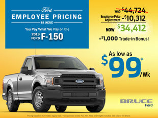 2019 Ford F-150 XLT from $99/Wk During Employee Pricing