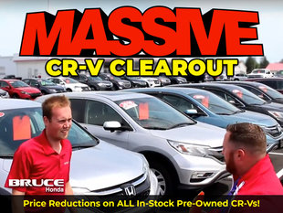 MASSIVE CR-V Clearout on Now! Save on ALL Pre-Owned CR-Vs!