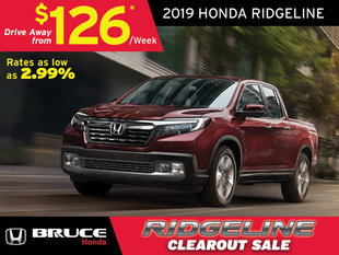 2019 Ridgeline Clearout  - Only 11 Remaining!