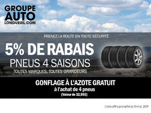 5% de rabais sur pneus d'été