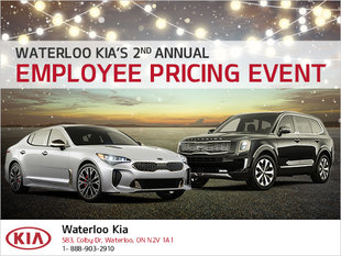 Waterloo Kia's 2nd annual EMPLOYEE PRICING EVENT!