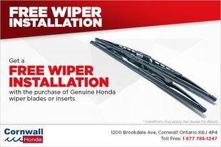 Get Wiper Blades Installed