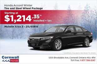 Get Your Accord Winter Ready!