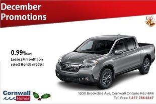 Lease or Finance Select Honda Models