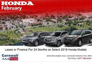 0.99%APR on Select Honda Models