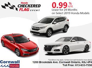 2019 Select Honda Models