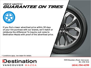 Price Match Guarantee on Tires
