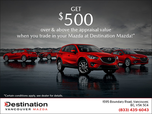 Get $500 over & above the appraisal value of your vehicle!
