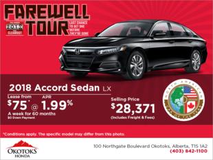 Get the 2018 Honda Accord Sedan Today!