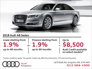 Drive the 2018 A8 today!