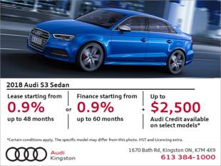 Drive the 2018 S3 Sedan today!