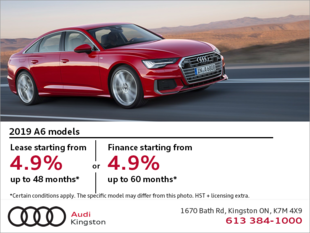 Drive the 2019 A6 Sedan today!