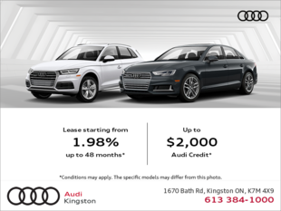 The Audi Monthly Sales Event!