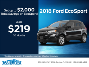 Save on the 2018 Ford Ecosport