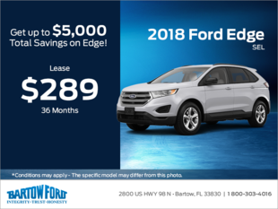 Save on the 2018 Ford Edge SEL