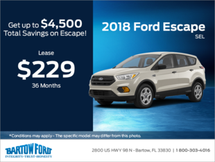 Save on the 2018 Ford Escape SEL