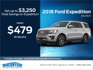 Save on the 2018 Ford Expedition (XL/XLT)