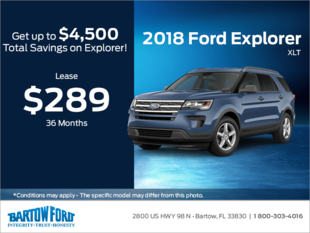 Save on the 2018 Ford Explorer XLT