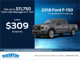 Save on the 2018 Ford F-150 2.7L Ecoboost XLT Crew Cab F-150