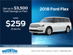Save on the 2018 Ford Flex