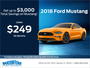 Save on the 2018 Ford Mustang