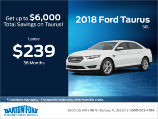 Save on the 2018 Ford Taurus SEL