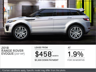 The 2018 Range Rover Evoque