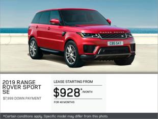 The 2019 Range Rover Sport SE V6