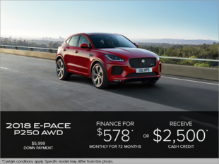 The 2018 Jaguar E-PACE P250