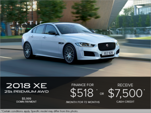 The 2018 Jaguar XE Premium 25t AWD