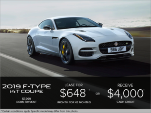 The 2019 Jaguar F-TYPE Coupe i4T