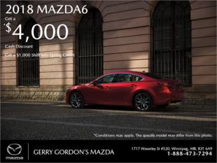 Gerry Gordon's Mazda - Get the 2018 Mazda6 today!