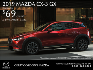 Gerry Gordon's Mazda - Get the 2019 Mazda CX-3 today!