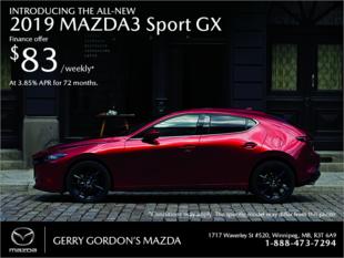 Gerry Gordon's Mazda - Get the 2019 Mazda3 Sport today!
