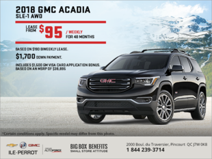 Lease the 2018 Acadia!