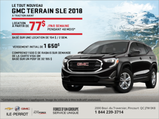 Louez le tout nouveau GMC Terrain SLE 2018!