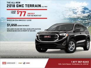 Lease the 2018 GMC Terrain SLE!