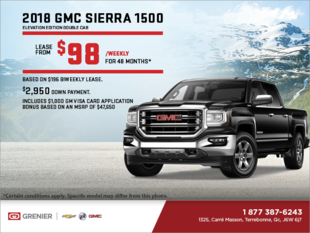 Lease the 2018 Sierra 1500 Elevation Edition!