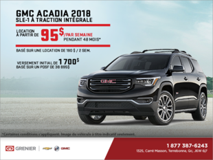 Le GMC Acadia 2018