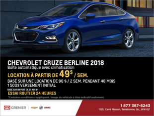 Chevrolet Cruze Berline LT 2018