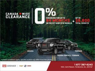 2018 GMC Canada wide clearance