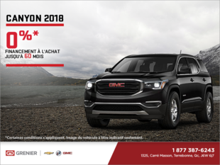 Le GMC Canyon 2018