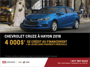 Obtenez le Chevrolet Cruze à hayon 2018