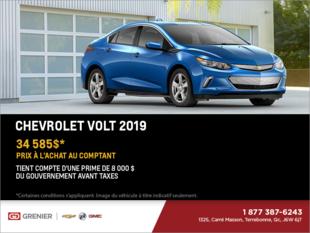 Obtenez le Chevrolet Volt 2019