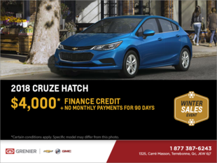 Get the 2018 Chevrolet Cruze Hatchback